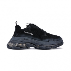 Authentic Balenciaga Triple S Clear Sole Black Women