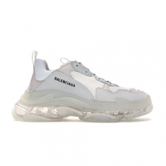 Balenciaga Triple S Clear Sole White Women