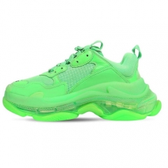 Authentic Balenciaga Triple S Neon Green Clear Sole Women