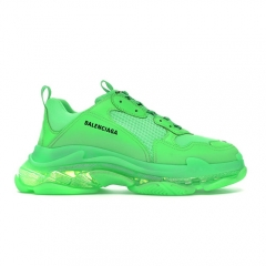 Authentic Balenciaga Triple S Neon Green Clear Sole