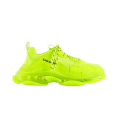 Authentic Balenciaga Triple S Clearsole Fluo Yellow