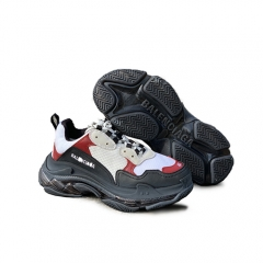 Authentic Balenciaga Triple S Black Red White